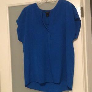 Ann Taylor sapphire blue, short sleeve blouse.